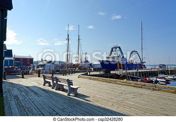 Harbor of Lunenburg - csp32428280