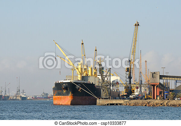 Harbor, Walvisbay, Namibia - csp10333877