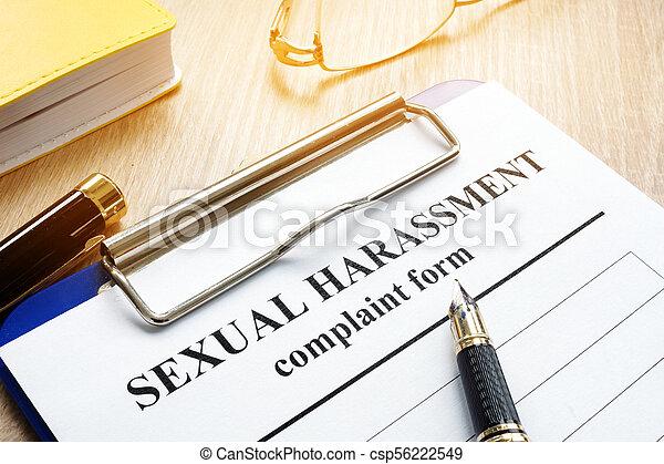 harcèlement, desk., formulaire, sexuel, plainte - csp56222549