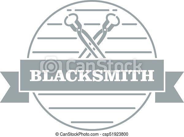 Hard blacksmith logo, simple gray style - csp51923800