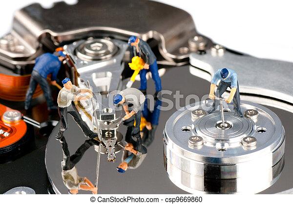 Hard disk repair concept - csp9669860