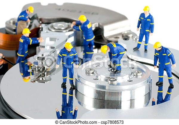 Hard Drive repair concept - csp7808573