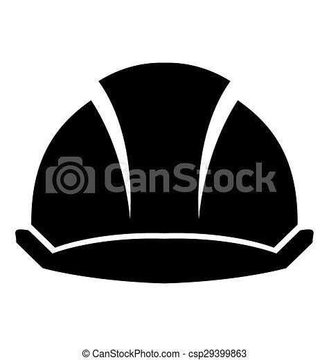 hard hat construction on a white background rh canstockphoto com construction hat clipart Construction Hat Clip Art Template