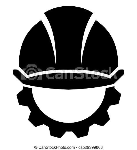 Hard Hat Construction On A White Background Vector