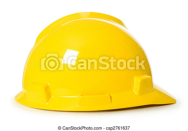 Hard hat isolated on the white background - csp2761637