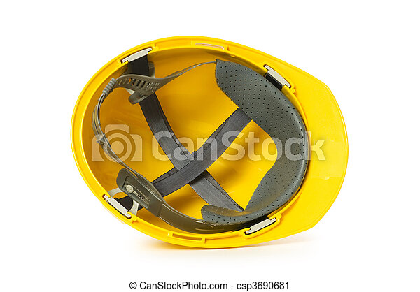 Hard hat isolated on the white background - csp3690681