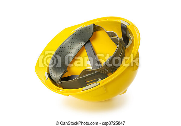 Hard hat isolated on the white background - csp3725847