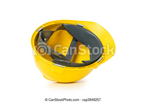 Hard hat isolated on the white background - csp3849257
