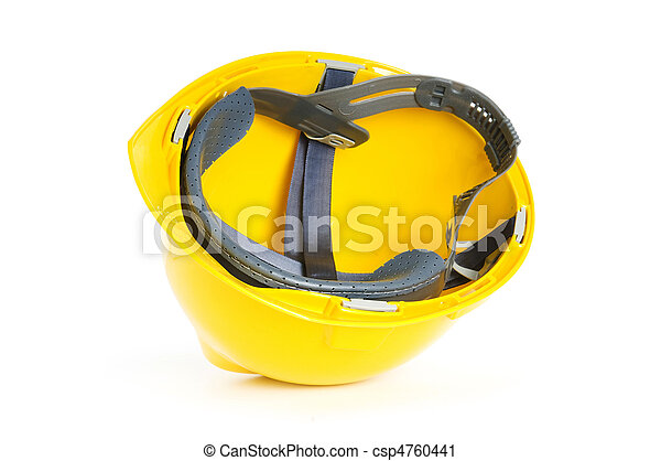Hard hat isolated on the white background - csp4760441