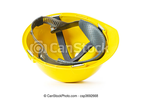Hard hat isolated on the white background - csp3692668