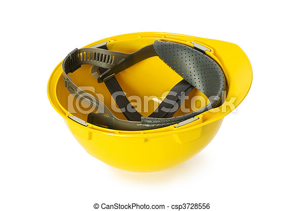 Hard hat isolated on the white background - csp3728556