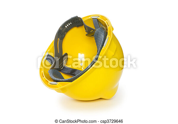 Hard hat isolated on the white background - csp3729646
