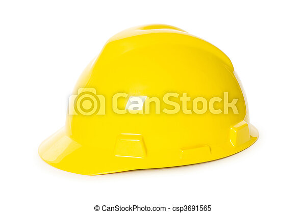 Hard hat isolated on the white background - csp3691565