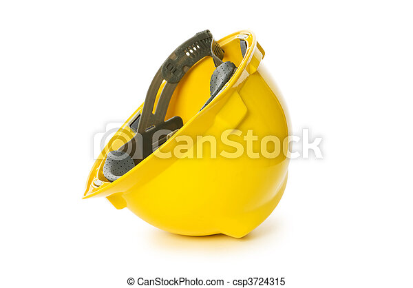 Hard hat isolated on the white background - csp3724315