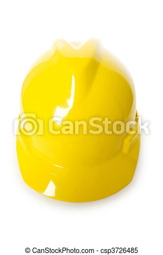 Hard hat isolated on the white background - csp3726485