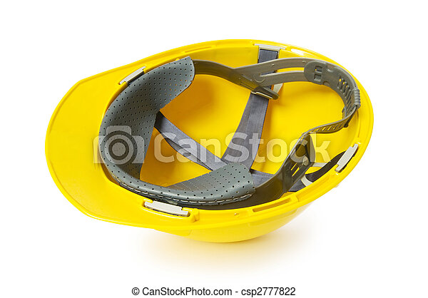 Hard hat isolated on the white background - csp2777822
