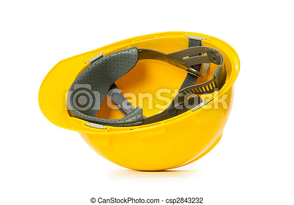 Hard hat isolated on the white background - csp2843232