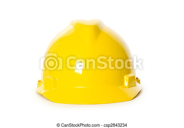 Hard hat isolated on the white background - csp2843234