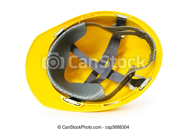Hard hat isolated on the white background - csp3686304