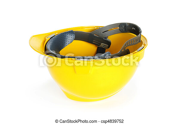 Hard hat isolated on the white background - csp4839752