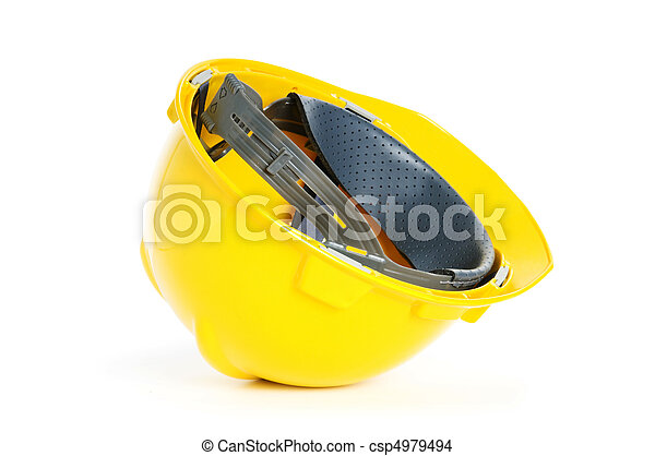 Hard hat isolated on the white background - csp4979494