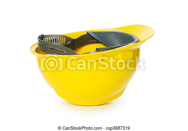 Hard hat isolated on the white background - csp3687319