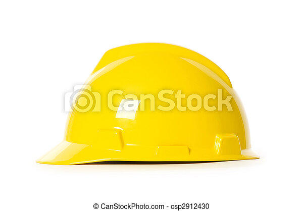 Hard hat isolated on the white background - csp2912430