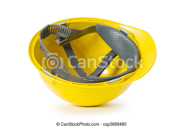 Hard hat isolated on the white background - csp3689480