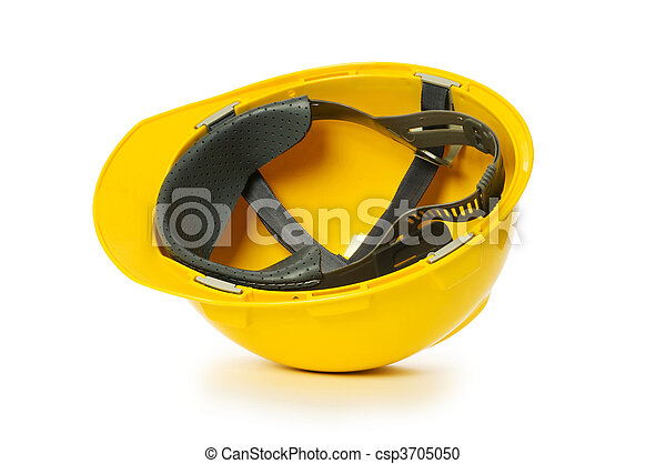Hard hat isolated on the white background - csp3705050