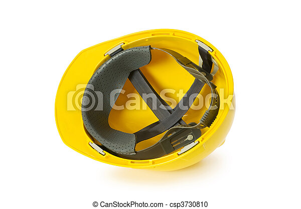 Hard hat isolated on the white background - csp3730810