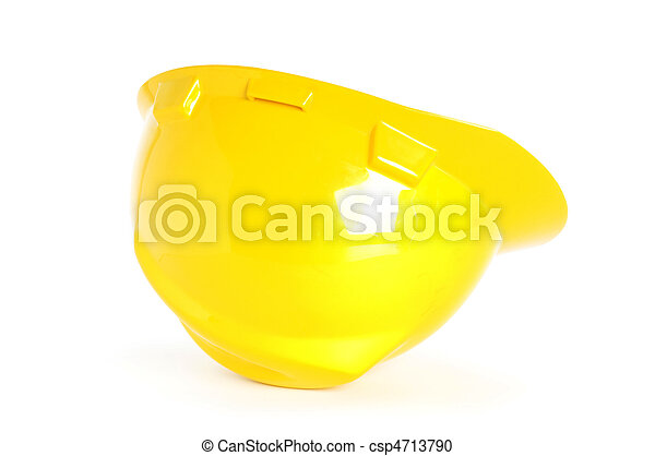 Hard hat isolated on the white background - csp4713790