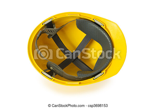 Hard hat isolated on the white background - csp3698153