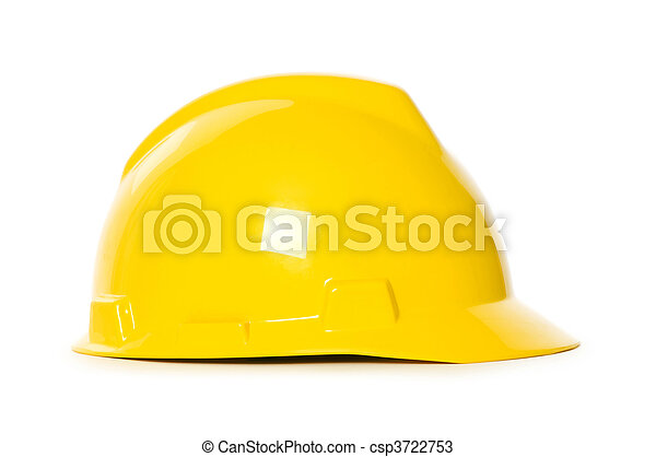 Hard hat isolated on the white background - csp3722753