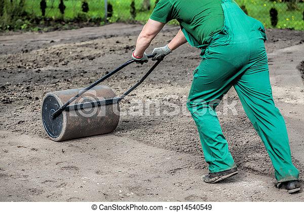 Hard work in garden - csp14540549