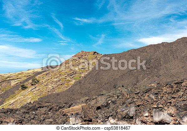 Hardened Lava Flow - Etna Volcano Sicily Italy - csp53818467