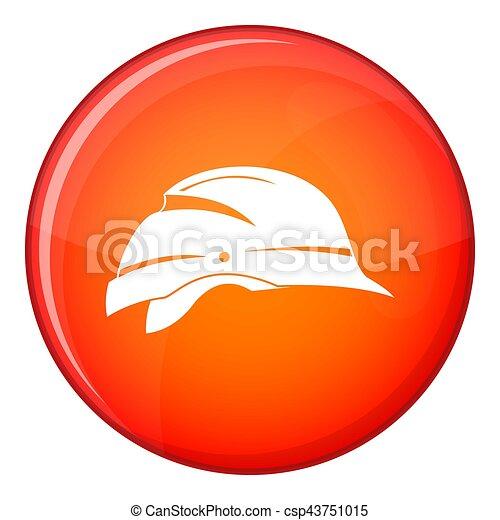 Hardhat icon, flat style - csp43751015