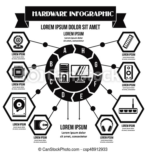 Hardware infographic concept, simple style - csp48912933