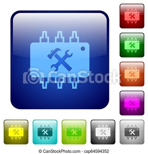 Hardware maintenance color square buttons - csp64594352