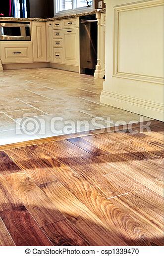 Hardwood  and tile floor - csp1339470