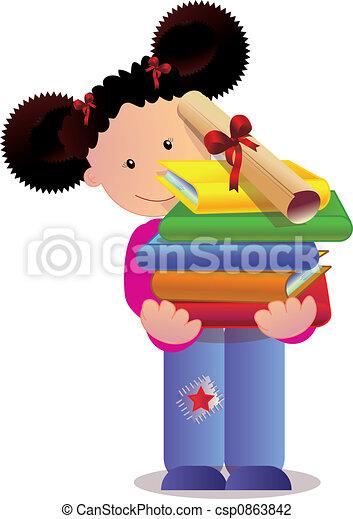 hardworking girl - csp0863842