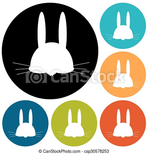 hare icon - csp30578253