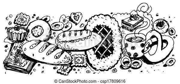 Hornear y productos de harina - csp17809616