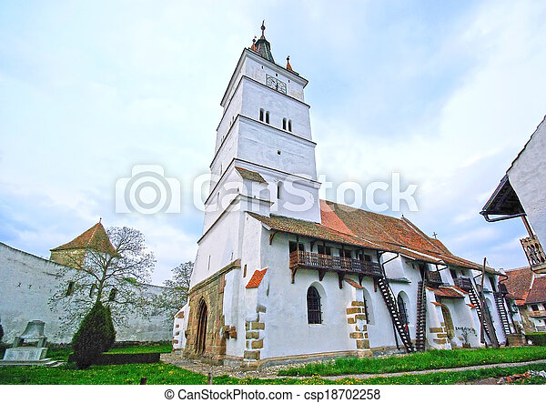 Harman fortified church - csp18702258