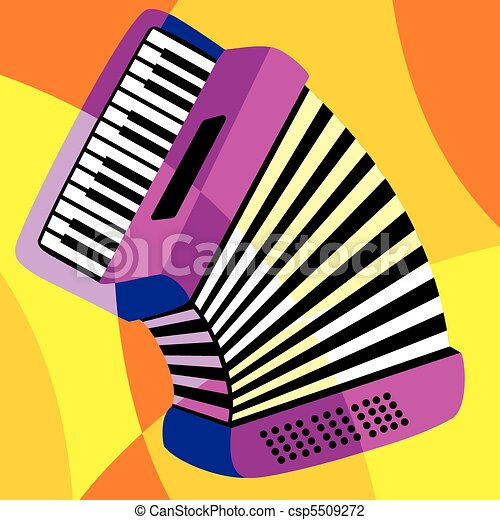 vector image harmonica stylization of color overlapping forms rh canstockphoto com harmonica clipart image harmonica clipart
