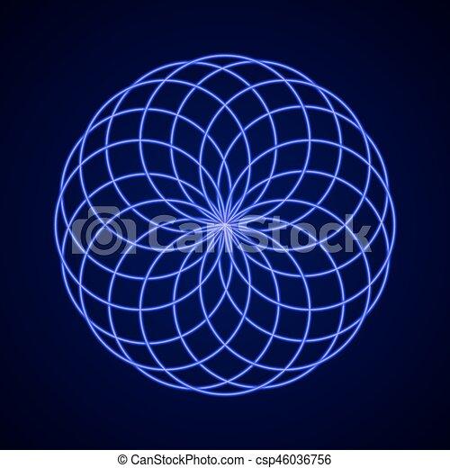 harmony., symbole, sacré, geometry. - csp46036756