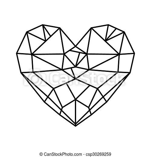 Hart diamant poly vector laag clipart vector zoek - Diamant dessin ...
