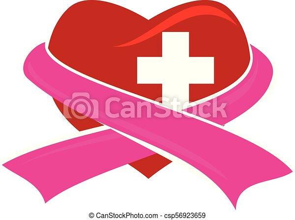 hart, kruis, lint - csp56923659