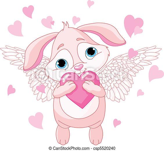 hart, liefde, schattig, konijn - csp5520240