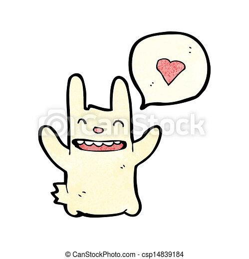 hart, liefde, spotprent, konijn - csp14839184