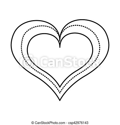 hart, liefde, tekening, pictogram. hart, liefde, illustratie, vector